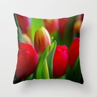 easter Throw Pillows featuring Easter by Herzensdinge