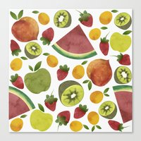 fruits Canvas Prints featuring fruits by Ana Rey