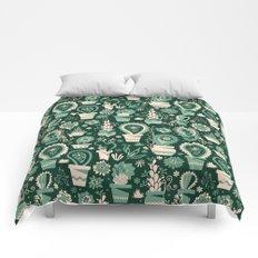 Paisley succulents Comforters