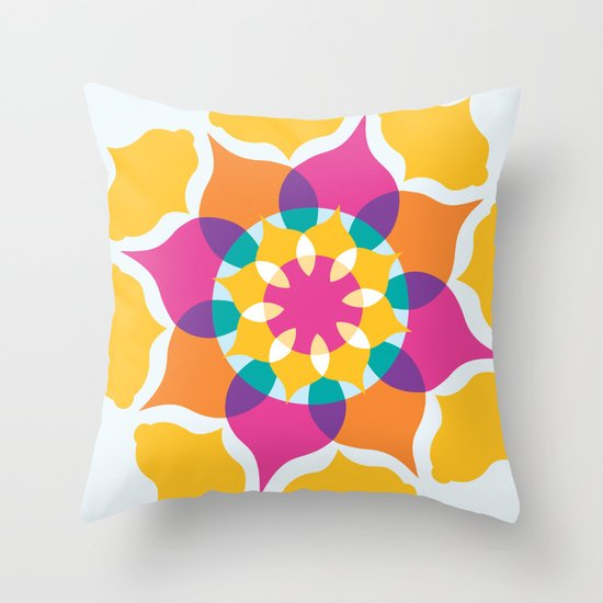 Majestic Swirl Throw Pillow