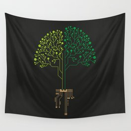 Technology Tree Wall Tapestry