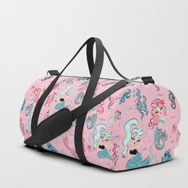 Babydoll Mermaids on Pink Duffle Bag