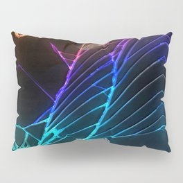 Rainbow Broken Damaged Cracked out Black handphone iPhone Pillow Sham