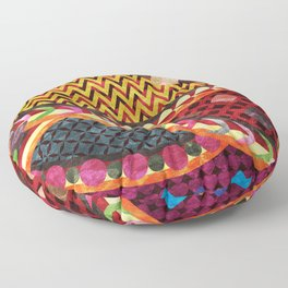Multi-Color Geometric Fantasy II Floor Pillow