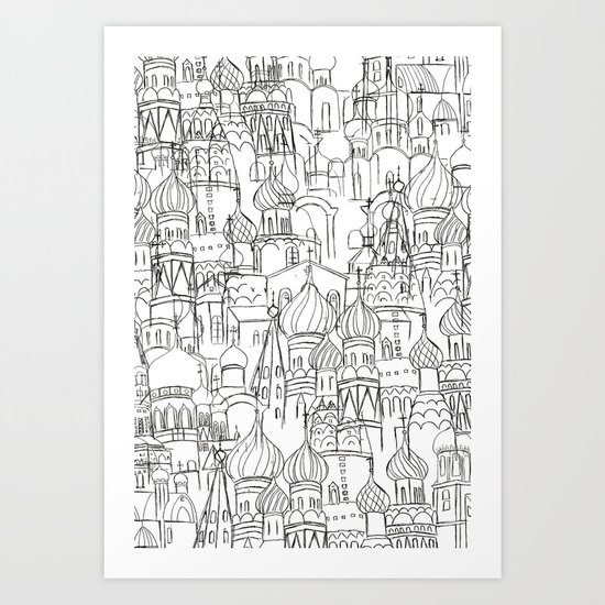 Russian cathedral church line drawing by colorandcolor