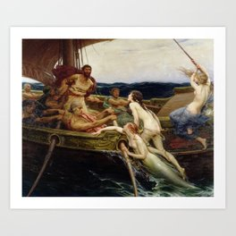 Herbert James Draper - Ulysses and the Sirens Art Print