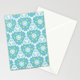 Lacy Blue Stationery Cards