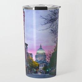 Madison Capital Sunrise with the New Orpheum Travel Mug
