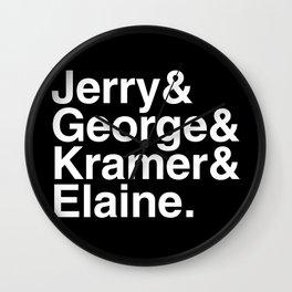 Seinfeld Jetset Wall Clock