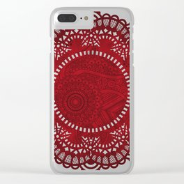 Henna doily Clear iPhone Case