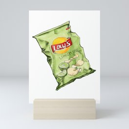 Lime Flavoured Chips Mini Art Print