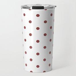Polka Dots Pattern: Rustic Red Travel Mug