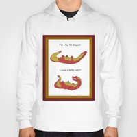 smaug Hoodies featuring Whiny Smaug by Rshido
