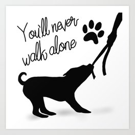 Dogwalker Art Print
