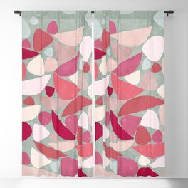 Sea Bed Mid Century Modern Abstract Blackout Curtain