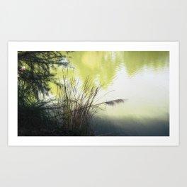 Heavenly Pond Art Print