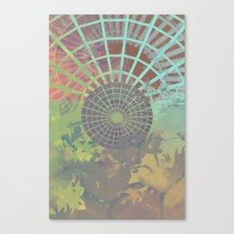 Ascending Spiral Stairway and Mandala Canvas Print