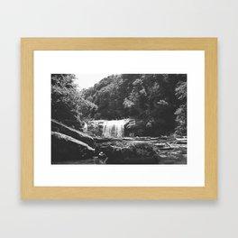 Black & White Waterfall  Framed Art Print