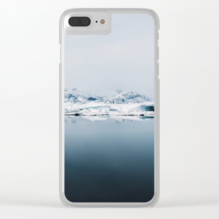 Ethereal Glacier Lagoon in Iceland - Landscape Photography Clear iPhone Case