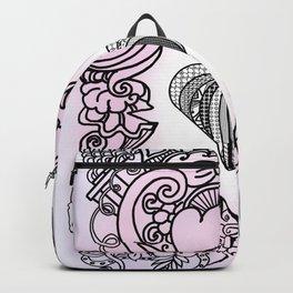 Love doodle . pink Backpack