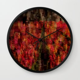 Field of Tulips Mosaic Wall Clock