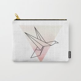 Origami Flying Bird Carry-All Pouch
