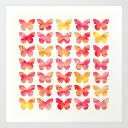 Butterflies Watercolor 1 Art Print