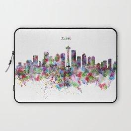 Seattle View in watercolor Laptop Sleeve