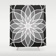 Shades of Grey   Geometric Pattern Shower Curtain