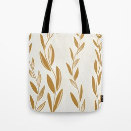Golden leaves and stems Tote Bag