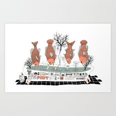 Bathtub Art Print