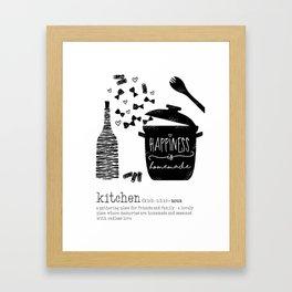 Kitchen-Love (Definition) Cooking Illustration Framed Art Print