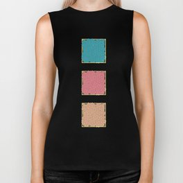 The Three Buttons Collection Biker Tank