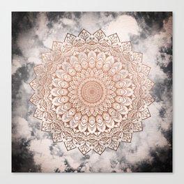 ROSE NIGHT MANDALA Canvas Print