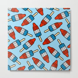 Rocket Popsicle Pattern Metal Print