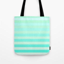 Green Teal Stripe Fade Tote Bag