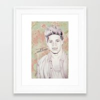 niall horan Framed Art Prints featuring Niall Horan by vanessa