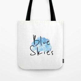 Blue Skies Time Tote Bag