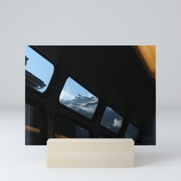 Mont Blanc Through the Train Window Mini Art Print