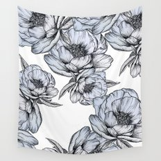 floating flowers Wall Tapestry