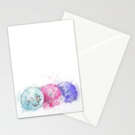 Asian Umbrellas Watercolor Stationery Cards