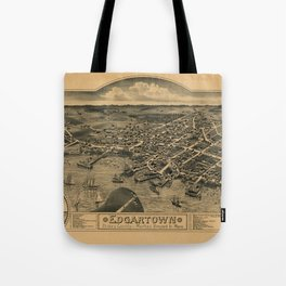 Map Of Marthas Vineyard 1886 Tote Bag