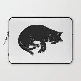 Sleepy Cat takes a nap | Linocut Laptop Sleeve