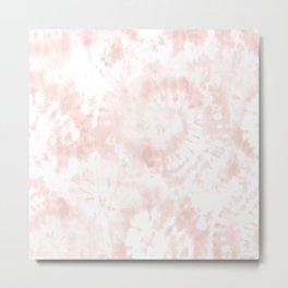 Blush Tie-Dye Metal Print