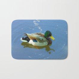 Ducks swimming Bath Mat