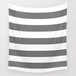 Sonic silver -  solid color - white stripes pattern Wall Tapestry