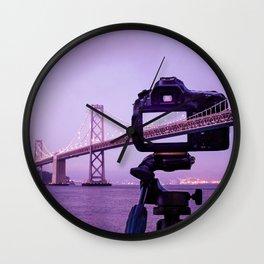 Bay Bridge Capture Wall Clock