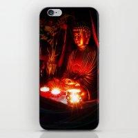 meditation iPhone & iPod Skins featuring Meditation by Christine Belanger