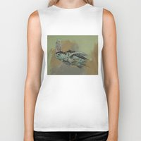 sea turtle Biker Tanks featuring Sea Turtle by Michael Creese