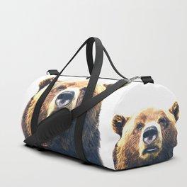 Bear portrait Duffle Bag